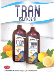 Tran islandzki o smaku pomarańczowym