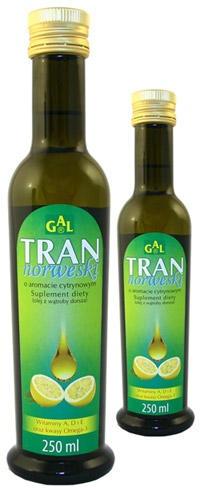 Tran norweski o aromacie cytrynowym