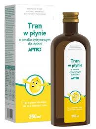 Tran w płynie o smaku cytrynowym dla dzieci