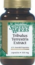 Tribulus Terrestris Extract 500mg, 60 kapsułek