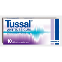 Tussal Antitussicum, 15 mg, 10 tabletek