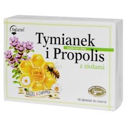 Tymianek i Propolis z ziołami, tabletki do ssania, 16 szt
