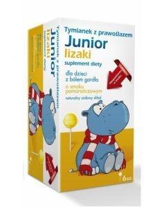 Tymianek z Prawoślazem Junior lizaki
