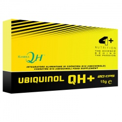 4+ NUTRITION - Ubiquinol QH+ (Koenzym Q10CoQ10) - 20 kap