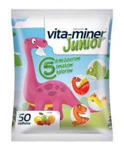 Vita-miner Junior żelki, 50 sztuk