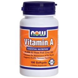 NOW - Vitamin A - 25000 IU - 100 kaps