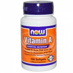 NOW - Vitamin A -  10000 IU - 100 kaps