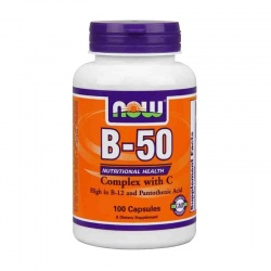 NOW - Vitamin B-50 - 100 kaps