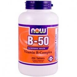 NOW - Vitamin B-50 - 250kaps