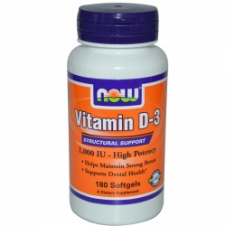 NOW - Vitamin D3-1000 IU - 180kaps