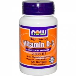 NOW - Vitamin D3-2000 IU - 120kaps
