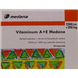 Vitaminum A + E, kapsułki, 2500 j