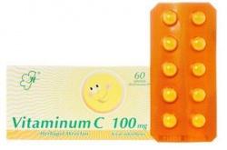 Vitaminum C, tabletki drażowane, 100 mg, 30 szt