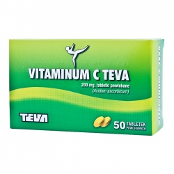 Vitaminum C TEVA (kwas askorbinowy) - tabletki powlekane,50 sztuk