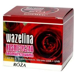 Wazelina kosmetyczna o aromacie róży, 15 ml (Kosmed)