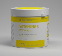 Witamina C MSE matrix, 180 tabletek