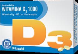 Witamina D3 1000, 60 kapsułek