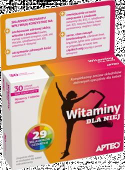 Witaminy dla Niej APTEO, 30 tabletek