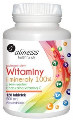 ALINESS - Witaminy i Minerały 100% - 120tab