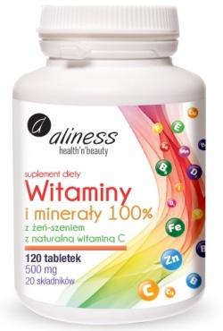 Witaminy i minerały dla całej rodziny 100 %, 120 tabletek