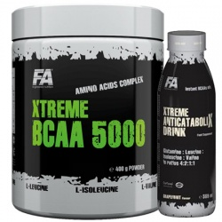 FITNESS AUTHORITY - Xtreme BCAA 5000  + BCAA L GLUTAMINE - 400g