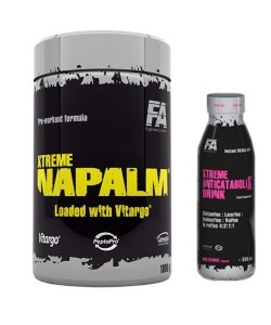 FITNESS AUTHORITY - Xtreme Napalm® with Vitargo® - 1000g + Anticatabolix Drink - 369ml