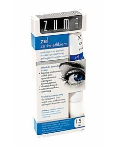 Zuma, żel ze świetlikiem, pod oczy, na powieki, skóra podrażniona,15 ml