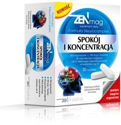 Zen Mag Spokój i Koncentracja, 30 tabletek