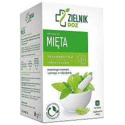 DOZ Zielnik Mięta, zioła do zaparzania, 2 g, 30 saszetek