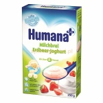 Humana kaszka mleczno-ryżowa z jogurtem i truskawkami